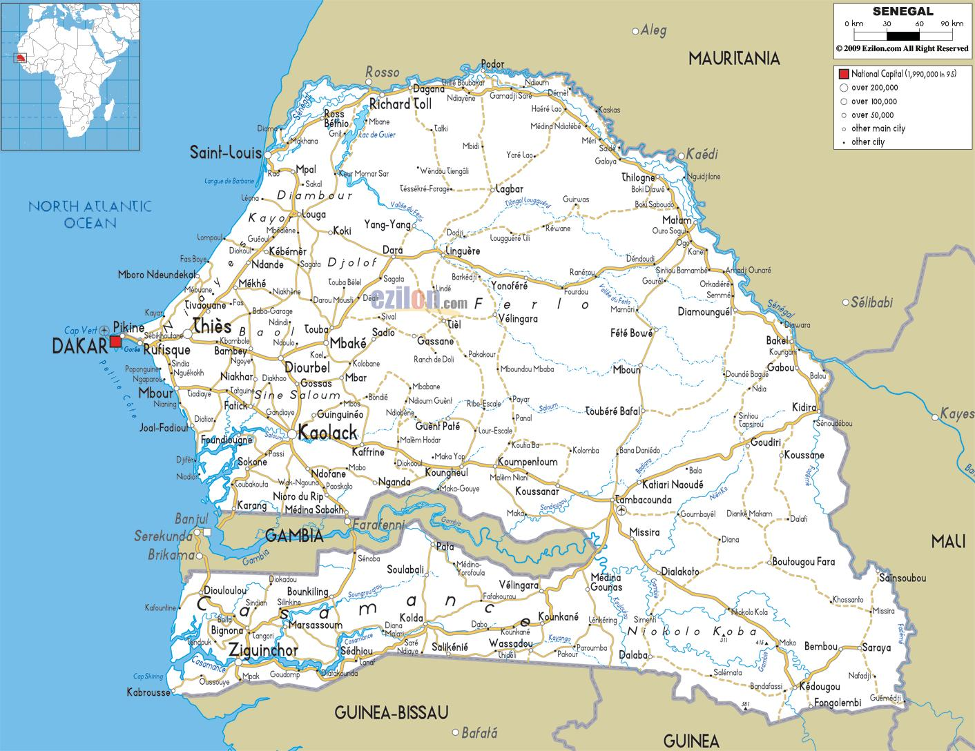 Karte Anzeigen.Casamance Senegal Karte Senegal Casamance Karte West Afrika Afrika